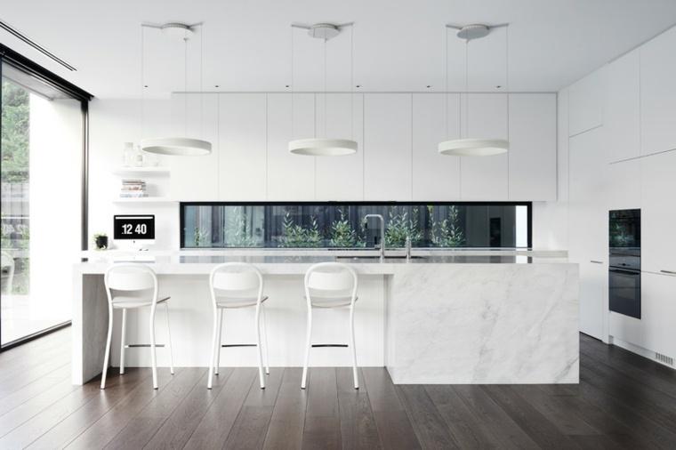 Couleur cuisine  la cuisine blanche de style contemporain
