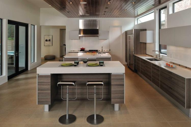 ilot central cuisine design
