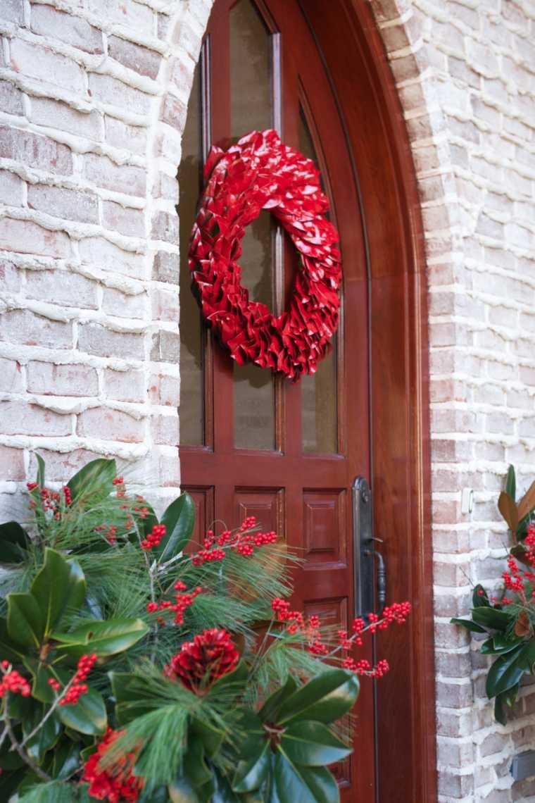 50 ides de dcoration de porte dentre de Nol