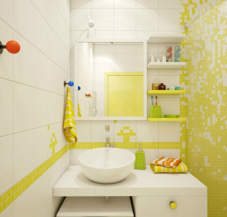 Stunning Salle De Bain Jaune Et Blanche Pictures - Awesome ...