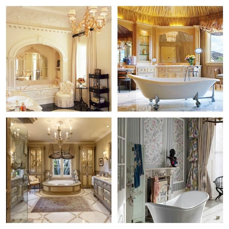 deco salle de bain de luxe et style baroque