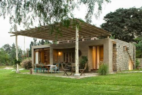 maison écolo idée construction matériaux verts design terrasse