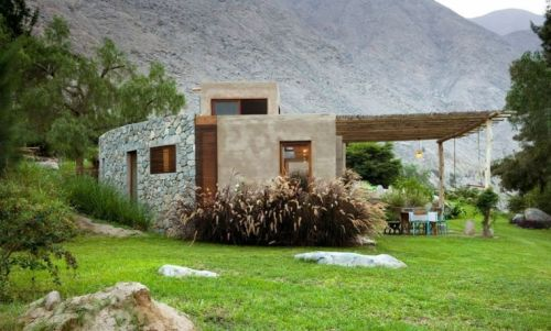 maison écologique idée consctruction matériaux verts pierre design idée