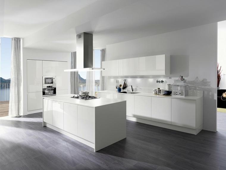 Cuisine blanche laque 99 exemples modernes et lgants