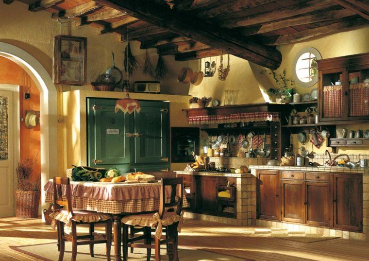 Cuisine ancienne pour un intrieur convivial et chaleureux