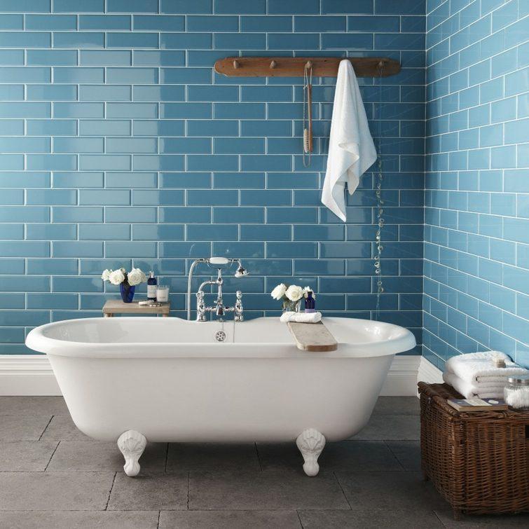 Deco Salle De Bain Moderne Carrelage Bleu