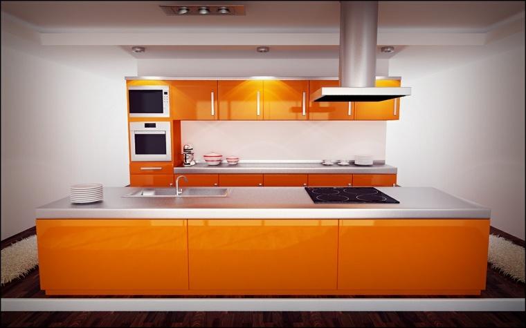 Meuble Cuisine Orange