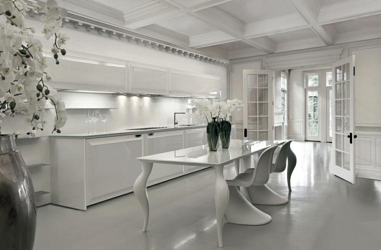 modele cuisine blanche en 50 idees