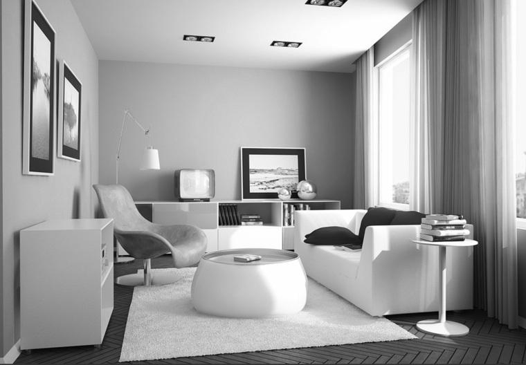 Dco salon blanc pour un intrieur lumineux et moderne