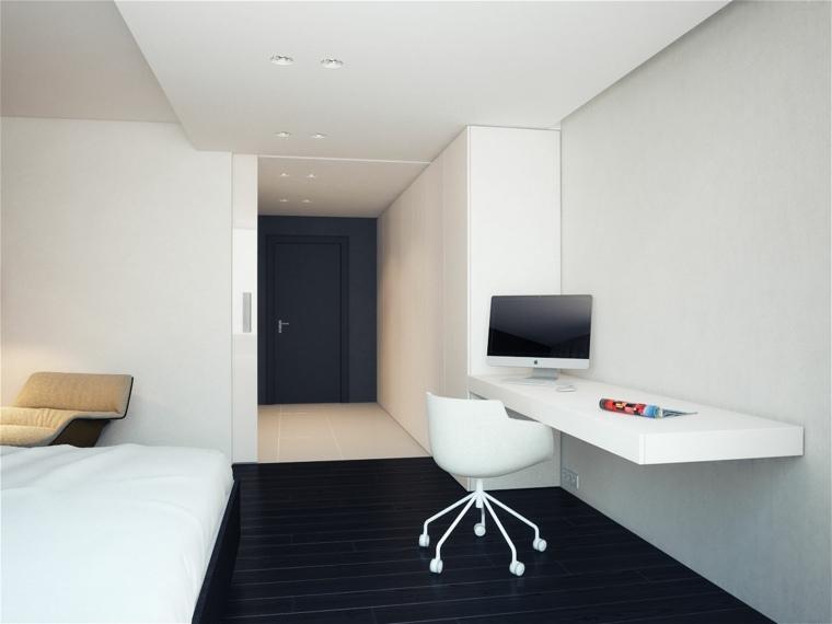 Bureau suspendu  de beaux exemples de petits meubles