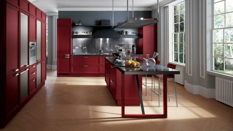 Modle de cuisine rouge 62 ides dinspiration modernes