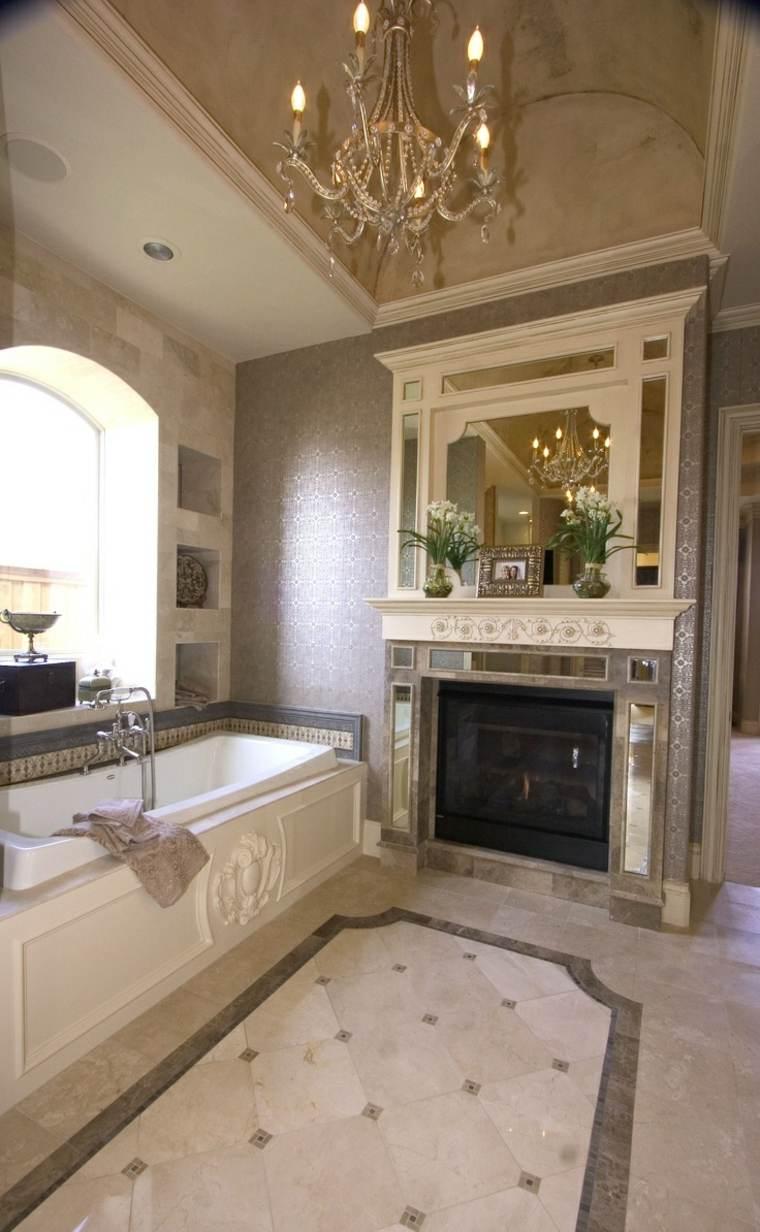 Modle de salle de bain avec chemine en 25 images