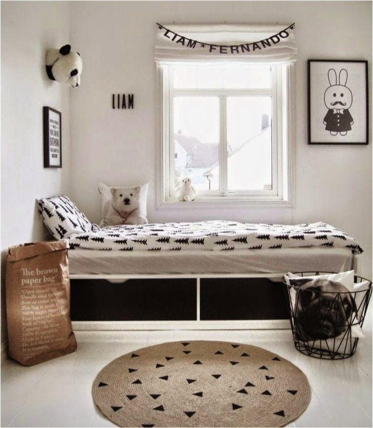 Chambres enfant blanches avec des touches de couleurs design