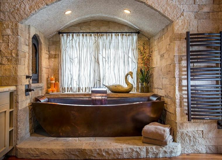 Parement pierre salle de bain  35 exemples magnifiques
