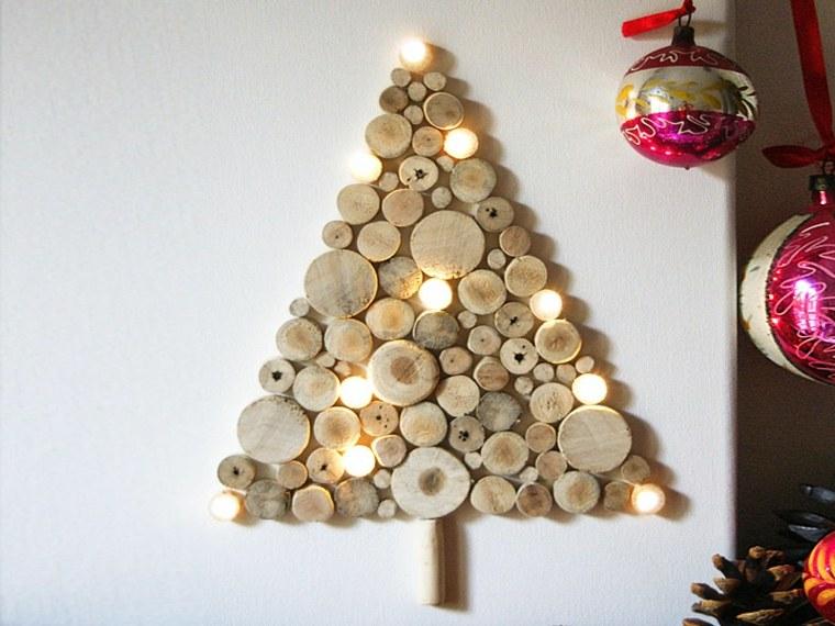 sapin de noël idée bois original décoration mur noël boule de noël