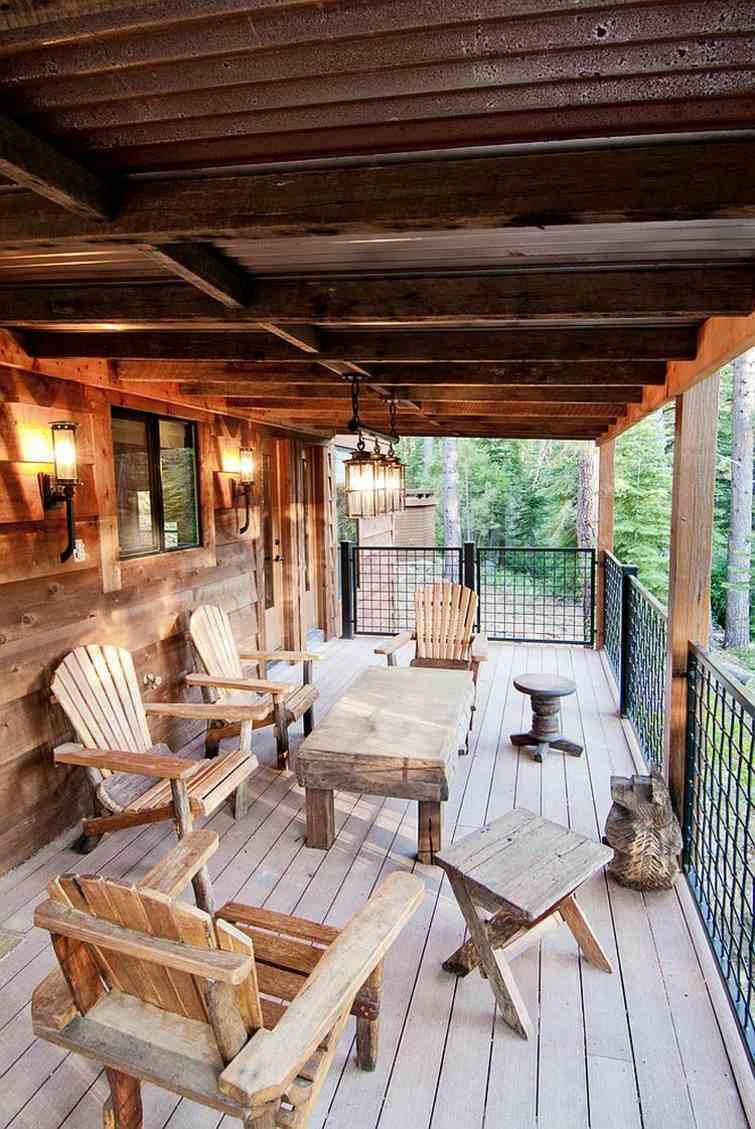 Dco terrasse en bois rustique en 25 ides inspirantes
