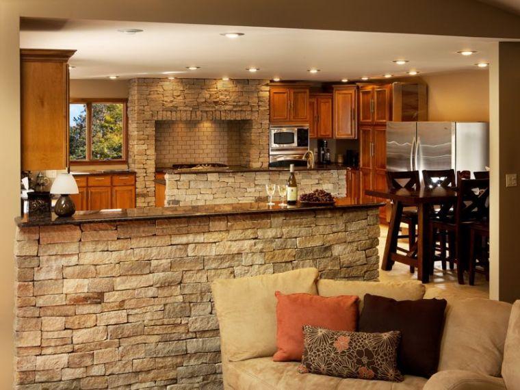 Dco pierre pour les murs de la cuisine en 49 exemples
