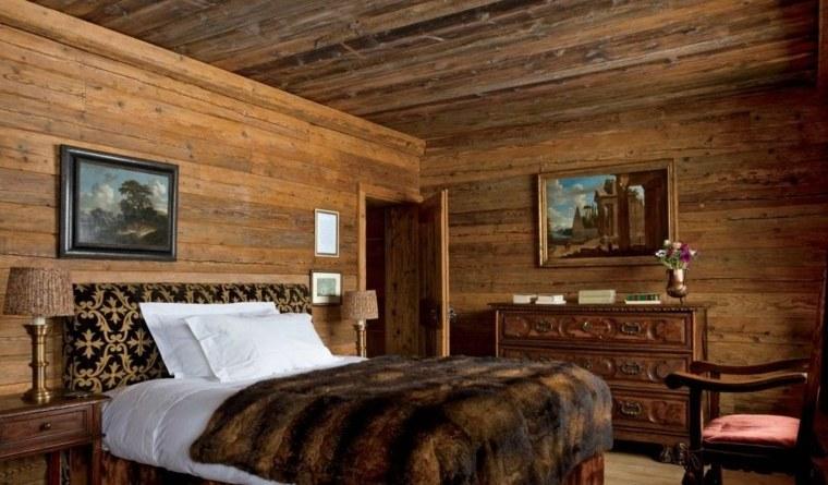 Dco chalet montagne  une centaine dides pour la chambre  coucher