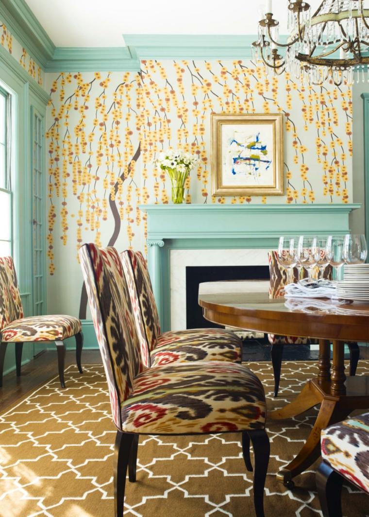 Papiers peints originaux pour la salle  manger en 35 ides