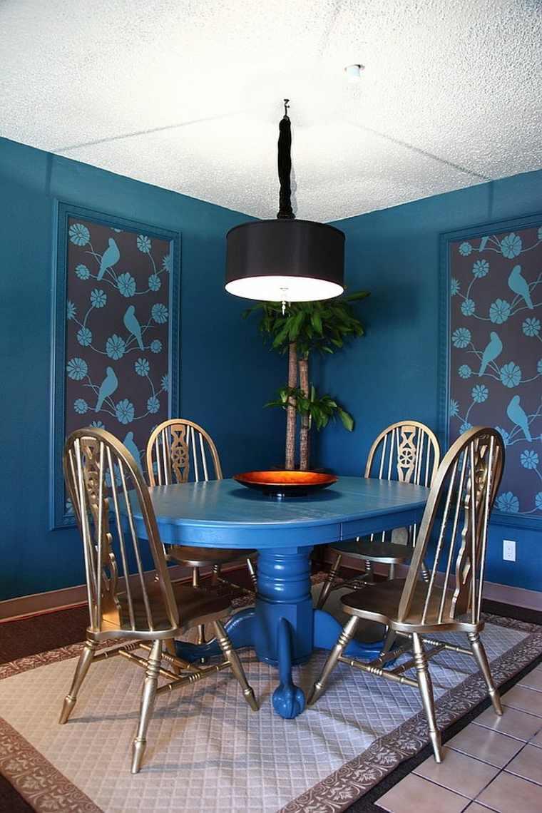 Dining Room Navy Blue