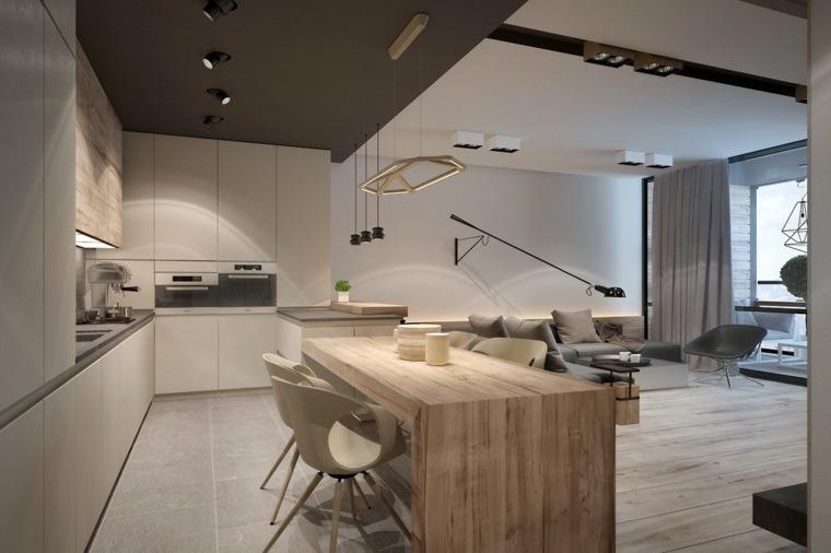 cuisine blanche bois