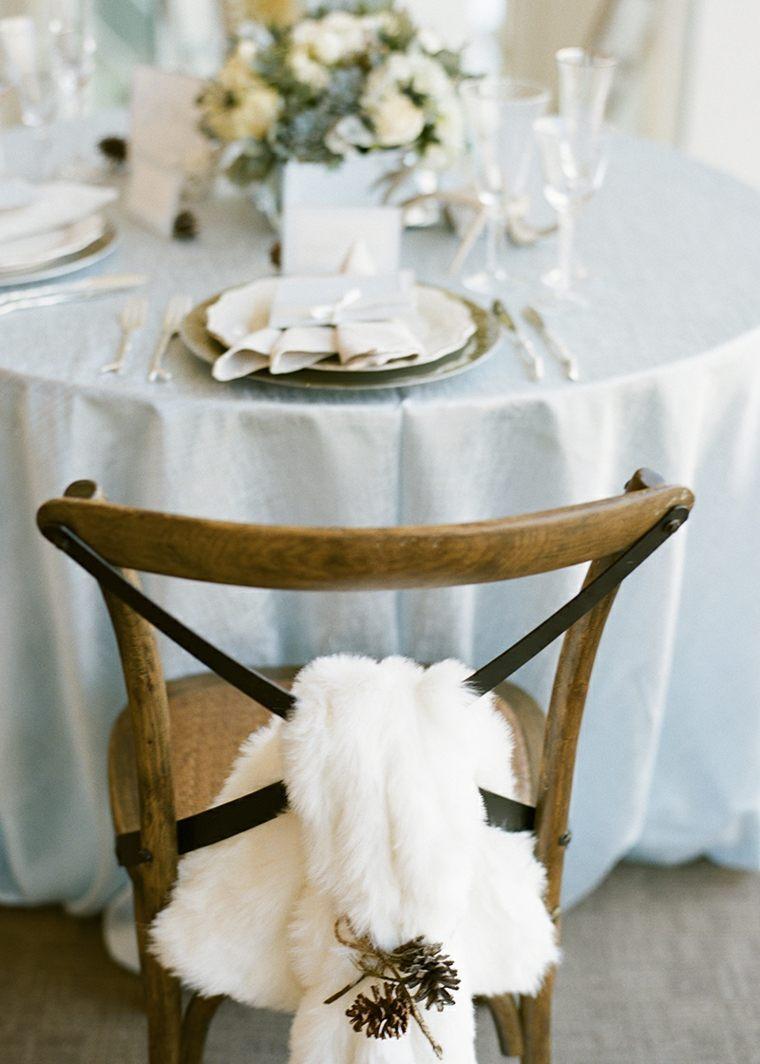 Dco mariage hiver de style rustique en 34 ides originales
