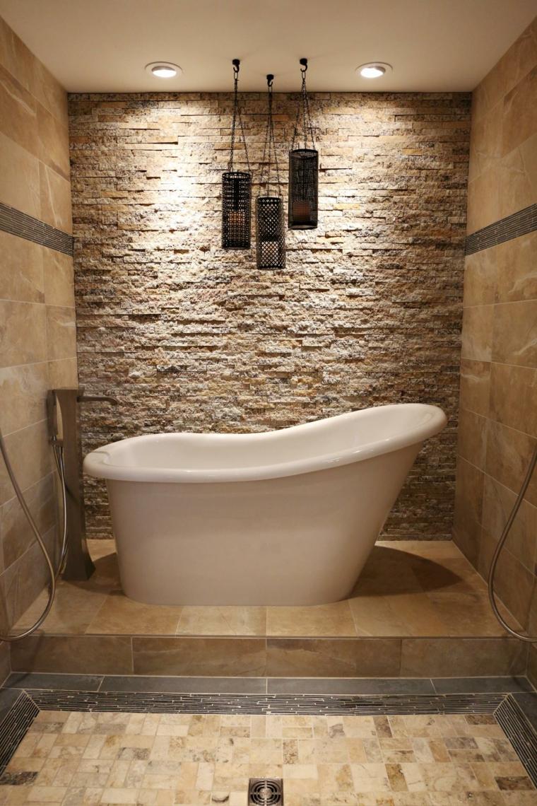 Salle de bain pierre en 35 exemples beaux et inspirants