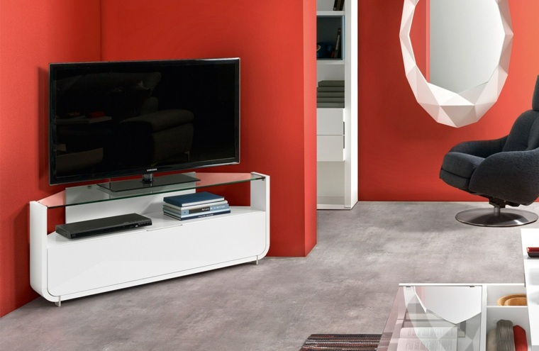 Meuble dangle TV de style contemporain et moderne
