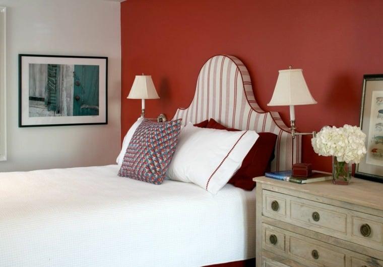 Dcoration chambre en couleur rouge  42 ides mangnfiques