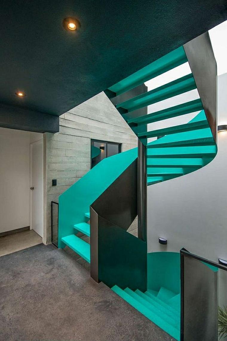 Escalier contemporain  un choix de modles en couleurs