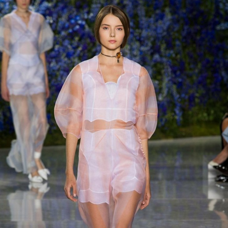 mode printemps été 2016 matieres transparentes