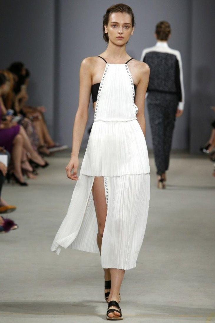 mode printemps-été 2016 robe noir blanc