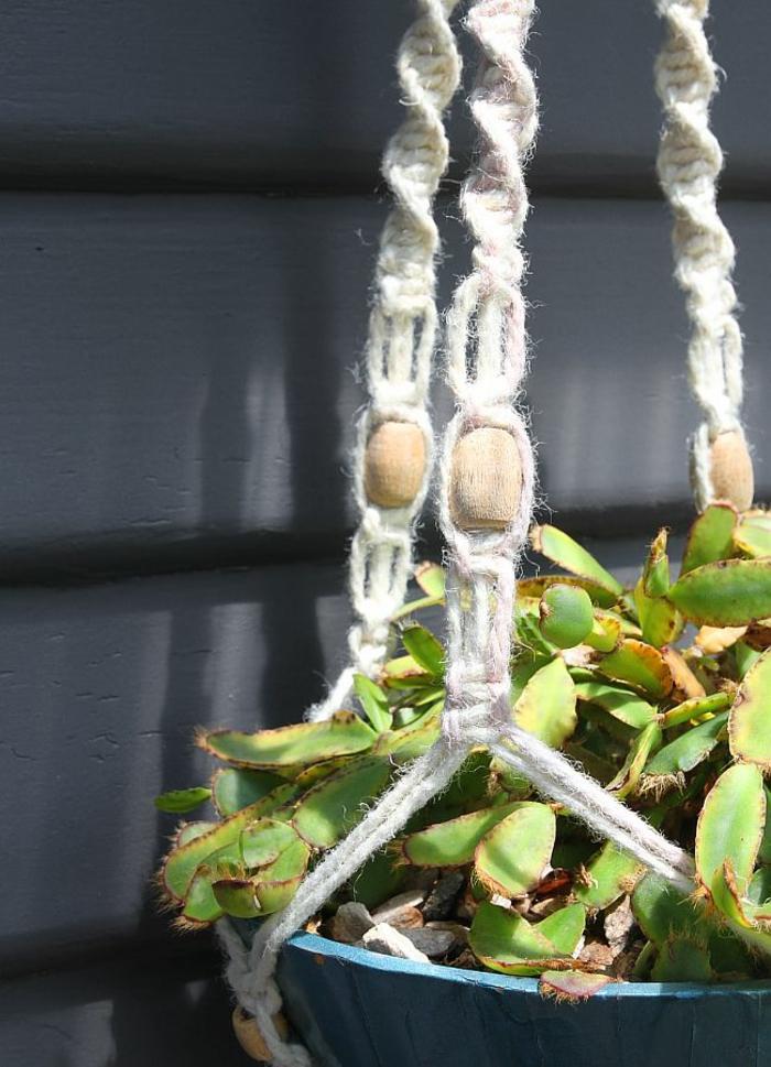 Pot suspendu macram pour fleurs et plantes en suspension