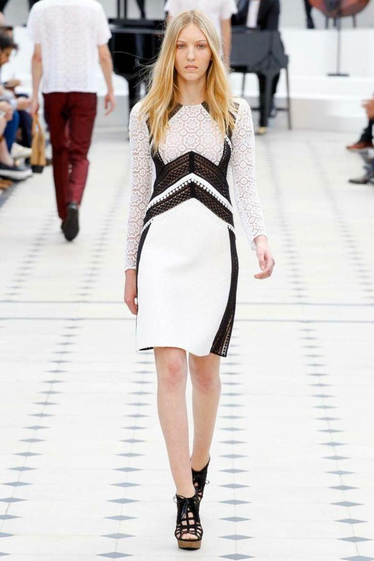 robe femme elegante noir blanc