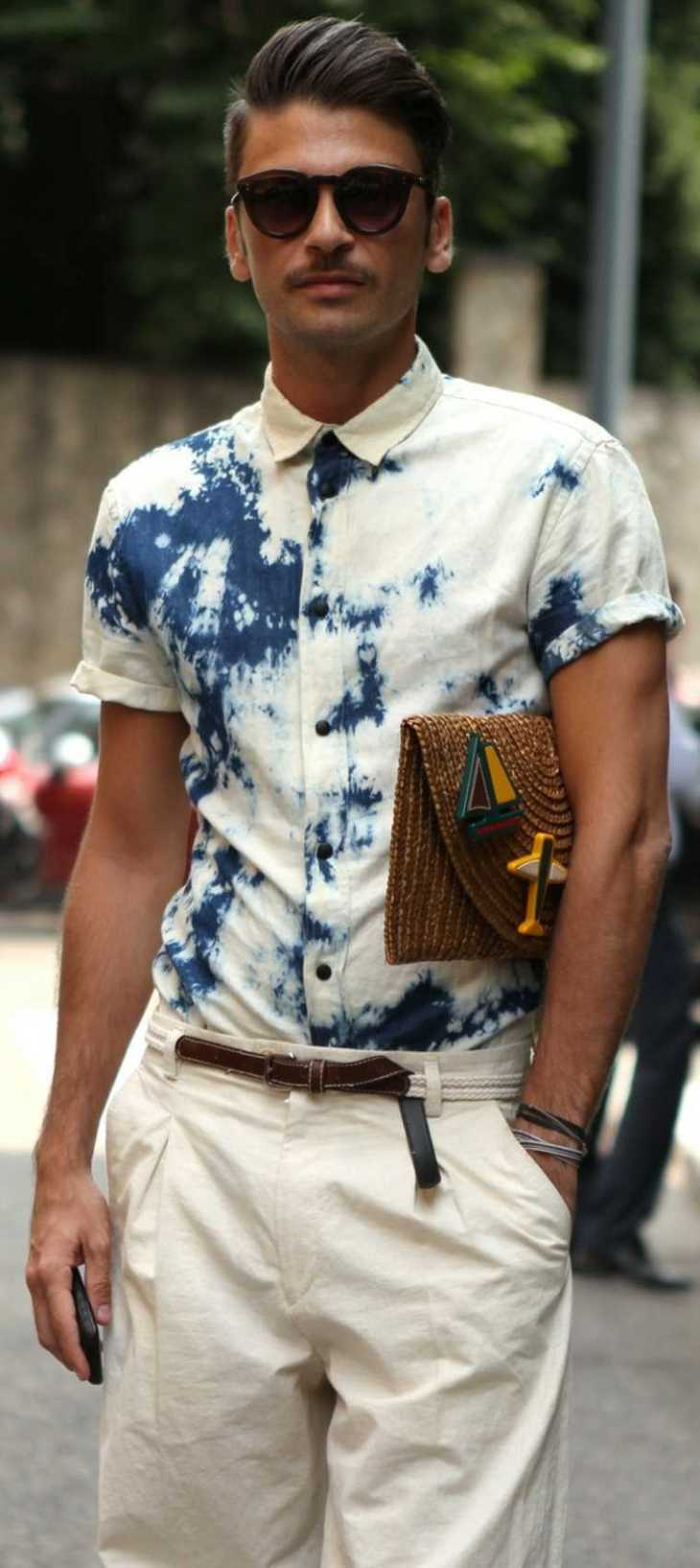 mode homme tendance chemise pantalon blanc tendance