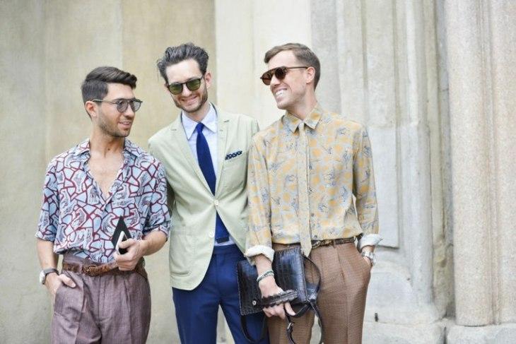 homme tendance mode chemise design moderne lunettes