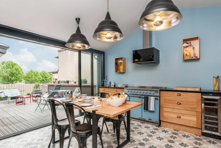 cuisine style bistrot carreaux modernes idees