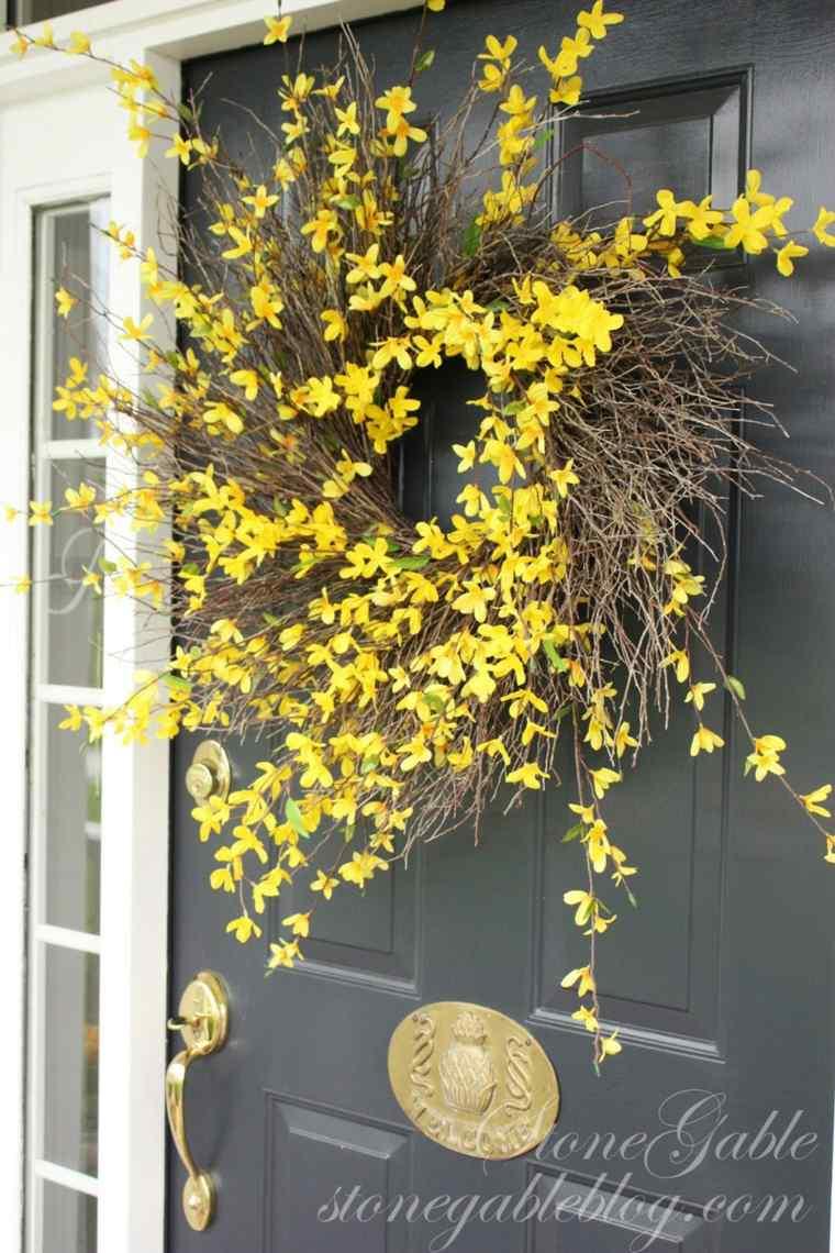 Dcoration de printemps avec couronnes  fabriquer soimme