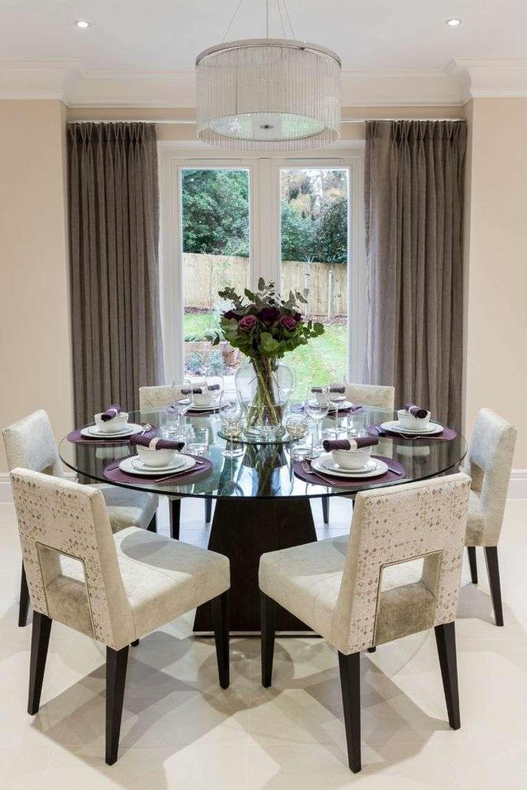 Table  manger design moderne et contemporain en verre