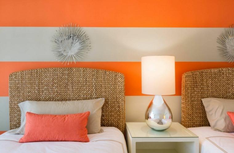 Peinture chambre tendance  osez les rayures larges