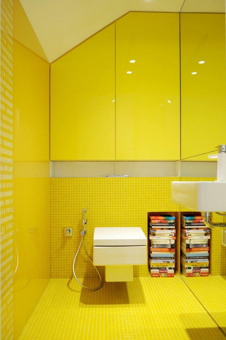 Couleur pour salle de bain  le jaune en 10 ides