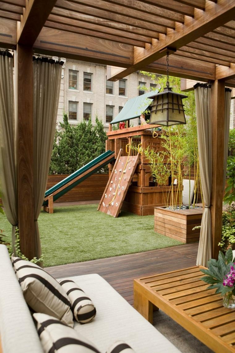 Aire de jeux extrieur  30 ides de maison enfant de jardin