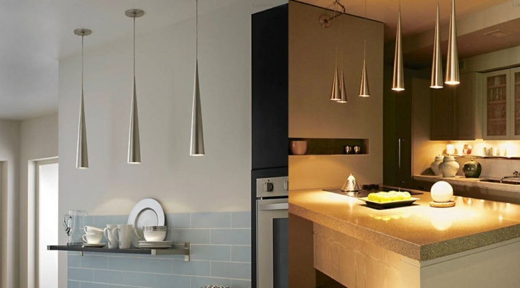 mini pendant lights for kitchen island fat burning book luminaire suspendu cuisine : 50 suspensions design