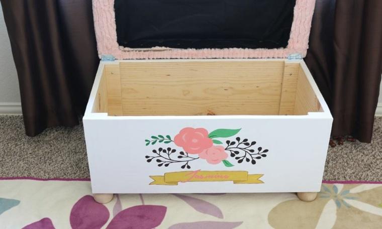 Fabriquer un coffre  jouet pour chambre denfant