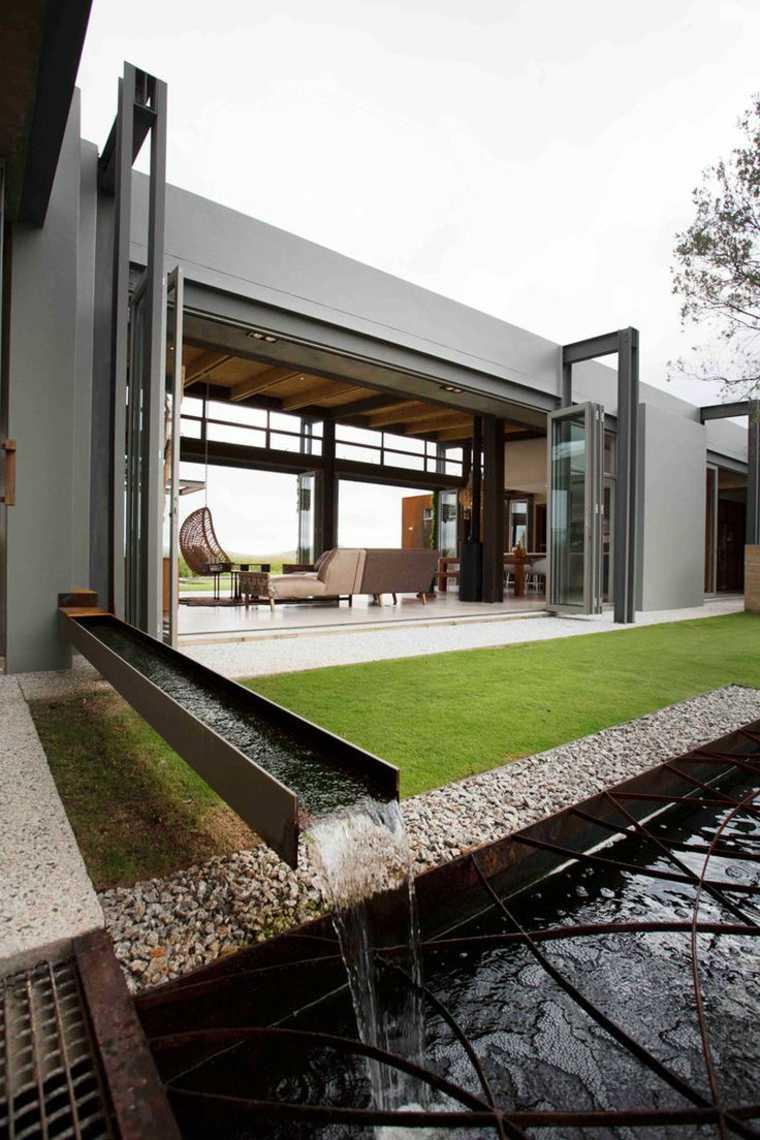 Fontaine et bassin aquatique pour jardin paysager moderne