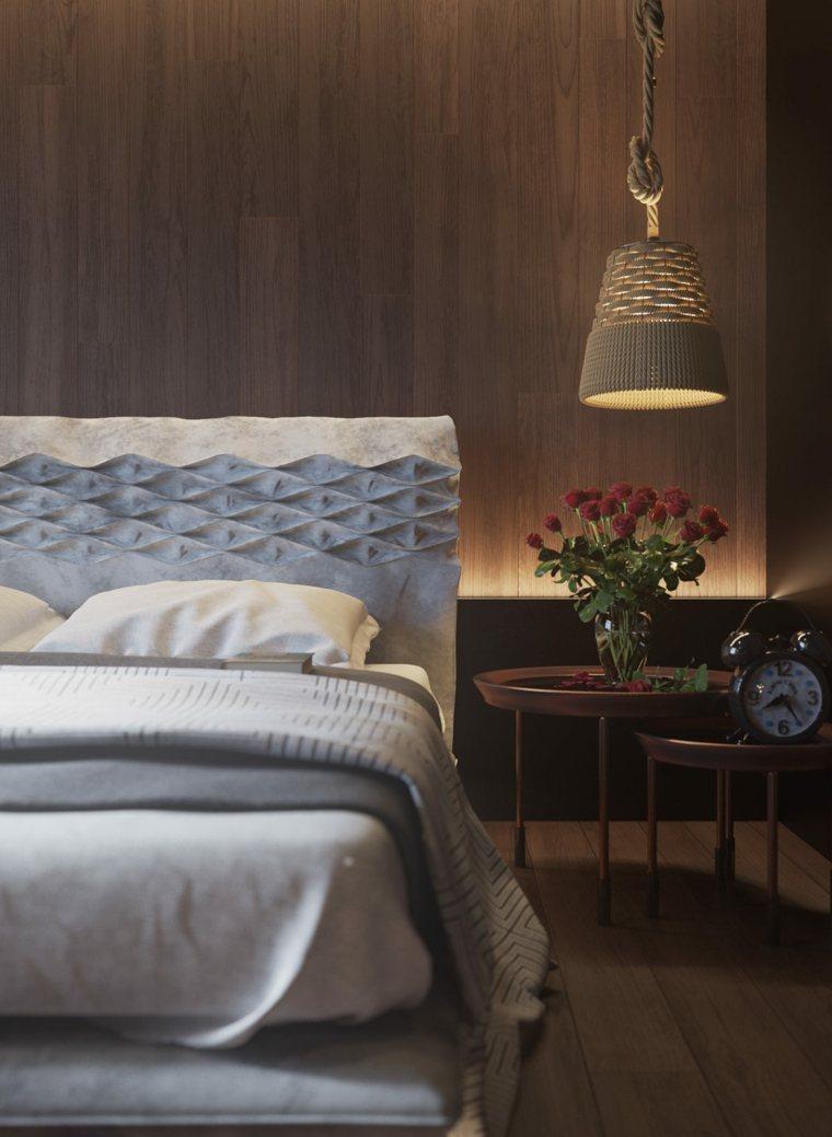Mur en bois pour une dco originale de chambre  coucher