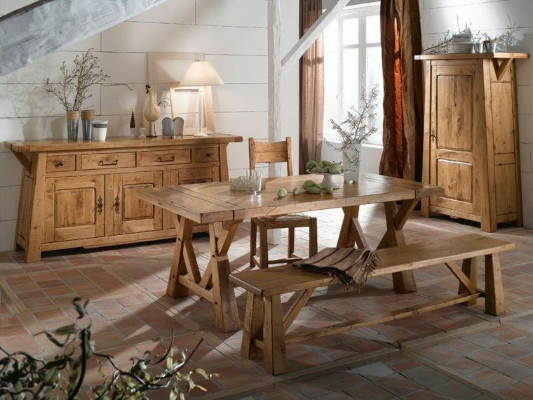 table salle a manger design rustique en