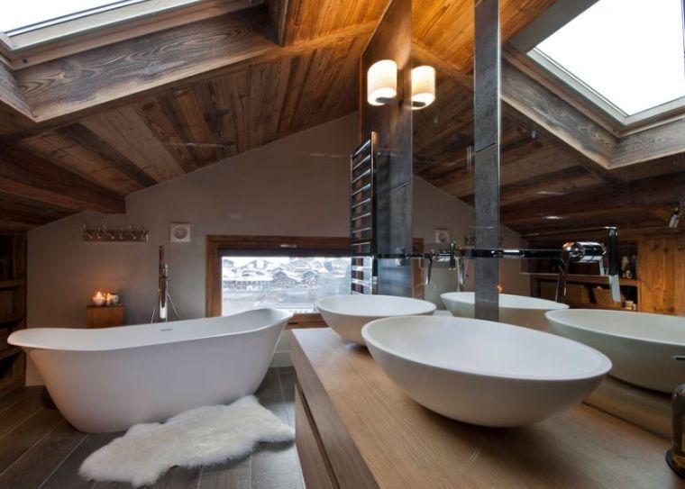 salle de bain chalet de montagne d co luxueuse et raffin e