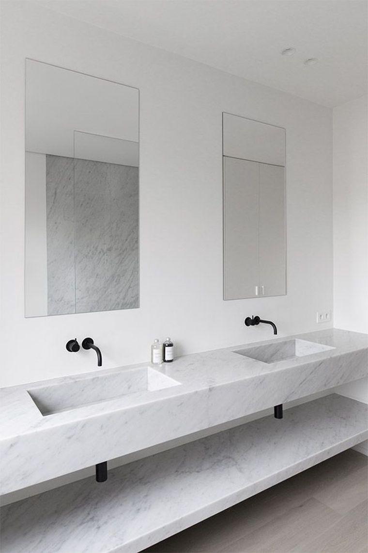 Carrelage Salle De Bain Marbre Blanc En 24 Belles Images