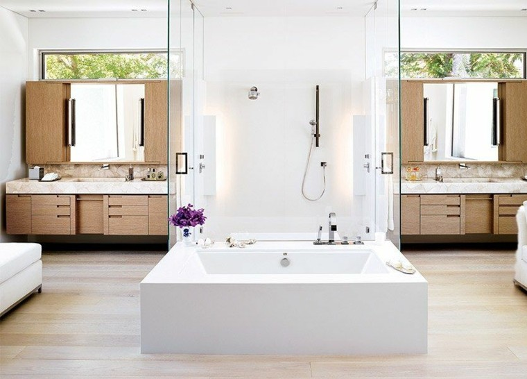 idees salle de bain avec douche design